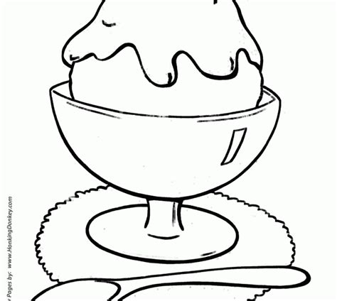 ice cream dish coloring page easy coloring pages kids coloring page cavasecreta com