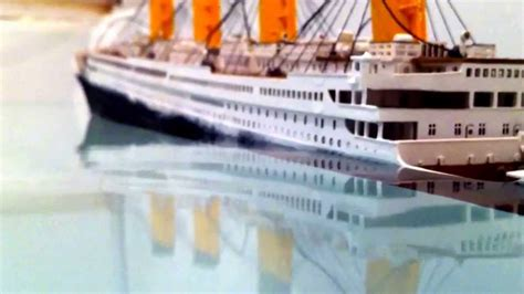 Titanic Sinking Model titanic model sinking