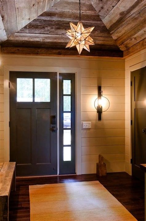 rustic entryway designs of how vaulted ceilings top off any room with style