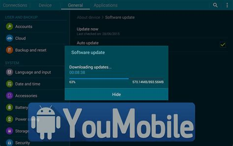 Galaxy Tab 4 Update firmware samsung galaxy tab 4 8 0 sm t335 official android 5 1 1 lollipop update is