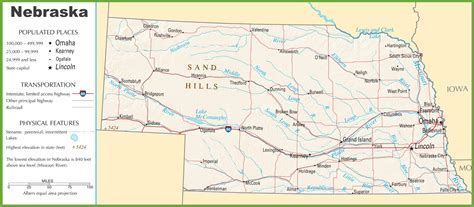 road map of nebraska usa map of nebraska swimnova