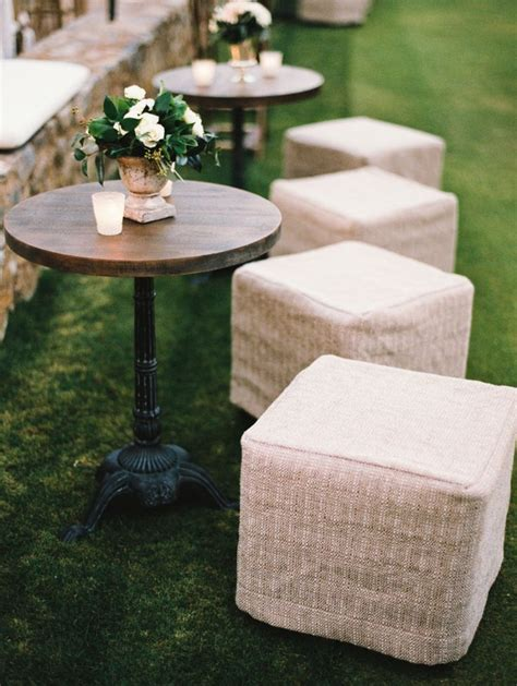 wedding cocktail hour furniture rentals stools http