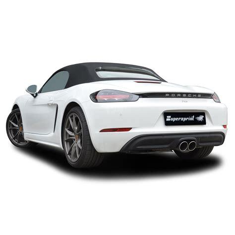 Porsche Boxster S Performance by Performance Sport Exhaust For Porsche 718 Boxster S