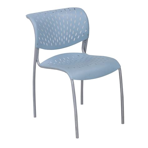 izzy used stack chair light blue national