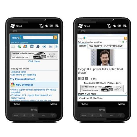 mobile msn redesigned msn mobile homepage now live softpedia