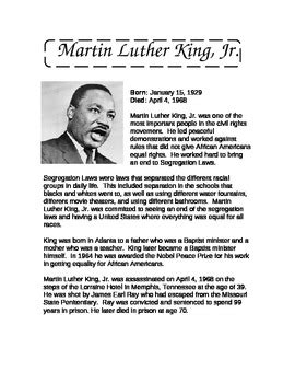 mlk biography quick facts martin luther king jr information and reading