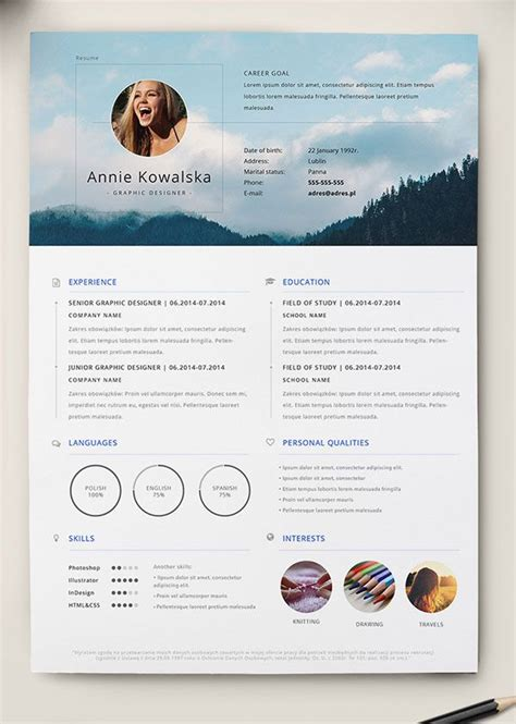 creative cv templates indesign free 10 best free resume cv templates in ai indesign word