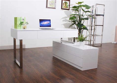 Modern White Lacquer Desk Modern White Lacquer Office Desk Sj12 Desks