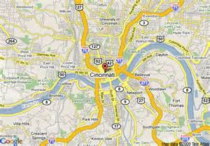 cincinnati in us map map of millennium hotel cincinnati cincinnati