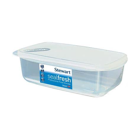 sealfresh rectangular storage container 1 5l 23 5x14x7cm noble express
