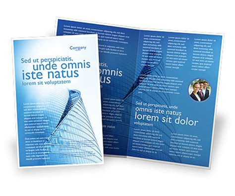 office center brochure template design and layout