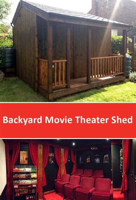 backyard home theater this shed looks great but it s not a normal shed wait