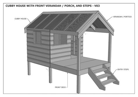Plans For A Cubby House Cubby House Play House Build One With Your Children Building Plans V3