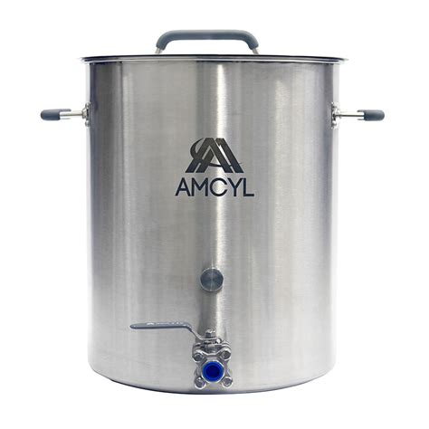 10 Gallon Brew Kettle with Lid and Valve   Beverage Elements