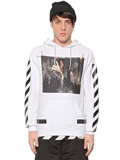 White Sweater S White Jaket Jaket Hoodie Berkualitas white c o virgil abloh caravaggio print hoodie in black for lyst