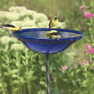 glass bird baths crafts