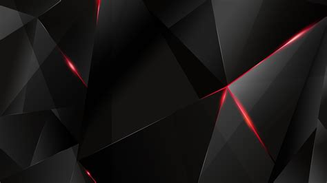 black polygon with red line abstract hd wallpaper