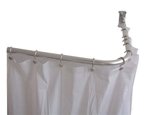 shower curtain l shaped rod l shaped shower curtain rod furniture ideas