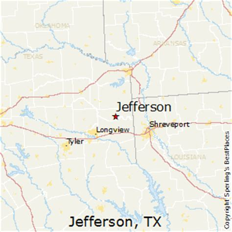 map of jefferson texas best places to live in jefferson texas