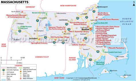 massachusetts map in usa cities in massachusetts massachusetts cities map
