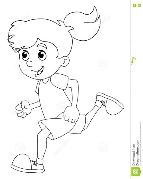 cartoon girl coloring pages vector of cartoon girl
