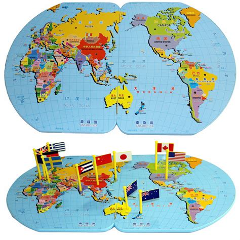 flags of the world jigsaw puzzle aliexpress com buy new small map of the world put flags