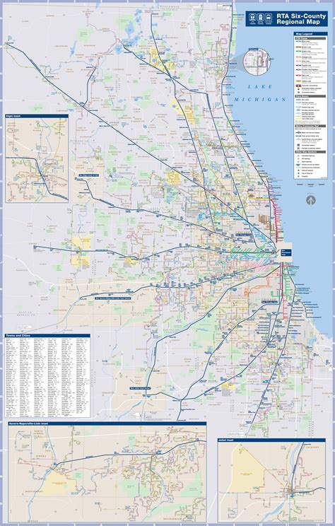 chicago metra map chicago area cta metra and map