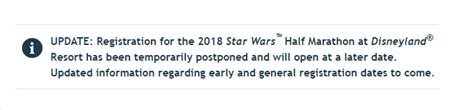 wars light side half marathon postponed is rundisney cancelling the tinker bell half marathon and