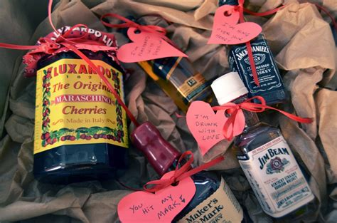 liquor valentines gifts mr kate diy liquor and hearts for guys