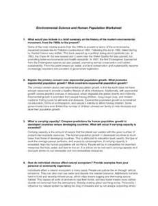 Sci 256 Week 4 Outline by Sci 256 Environmental Pollution Outline Homework Tips