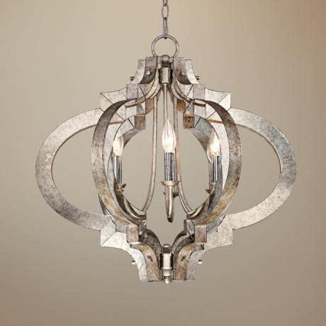 possini ornament aged silver 6 light chandelier style