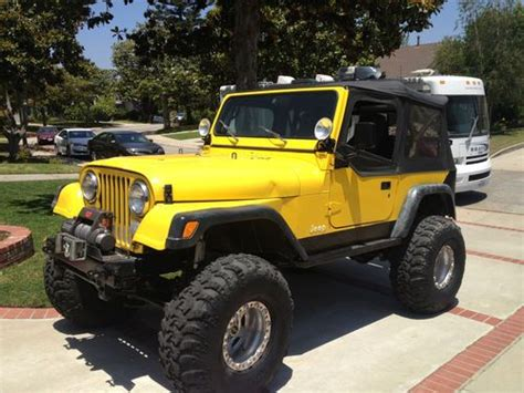cj jeep yellow purchase used 1985 jeep cj7 heavily modified in los