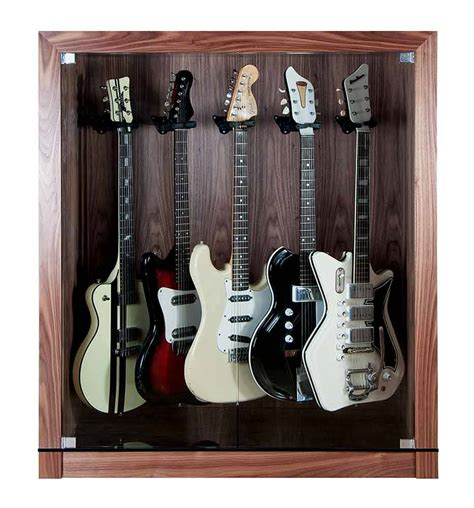 guitar display cabinet for up to five guitars choice of