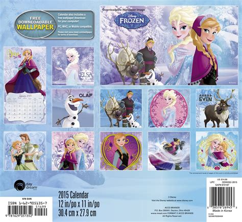 disney frozen calendar 2015 frozen 2015 wall calendar frozen photo 37275606 fanpop
