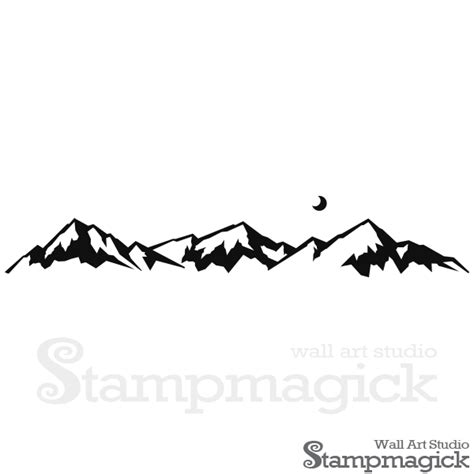 wide mountain range wall decal k409 stampmagick wall decals