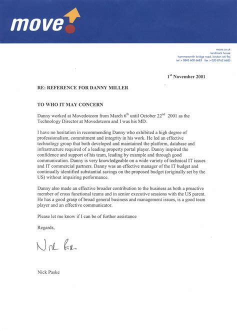 Reference Letter For Uk Employee Reference Letter Sle Uk Cover Letter Templates