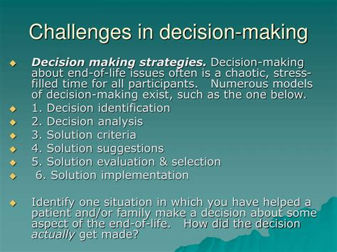 challenges of decision ppt helping patients and families with end of