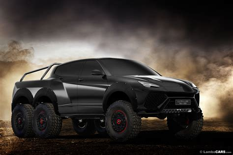 lamborghini pickup truck lamborghini urus 6x6 pickup and production model rendered