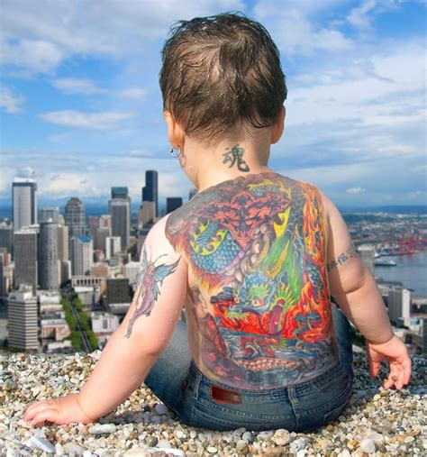 baby with tattoo baby designs roomfurnitures