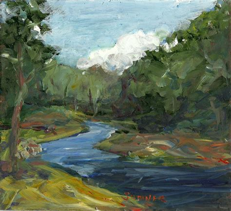 acrylic paint landscape original acrylic landscape painting late summer river clouds