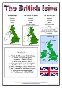 the british isles worksheet free esl printable
