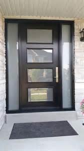modern exterior door with multi point locks 4 door lites