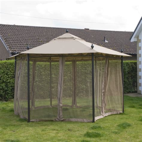 Hexagon Gazebo Customer Reviews For Ellister Hexagonal Gazebo