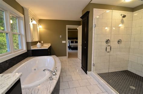 traditional bathrooms flooring tile for shower floor bathroom traditional with black