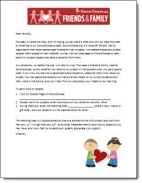 Introduction Letter To Friends And Family Free Customizable Donorschoose Letter To Parents To Send