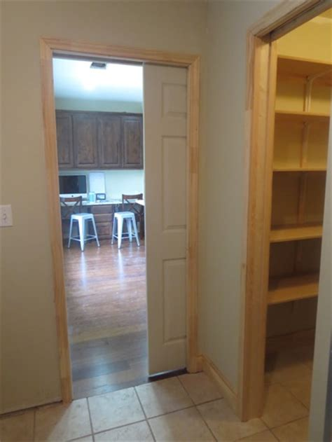 pocket doors pantries and canned storage
