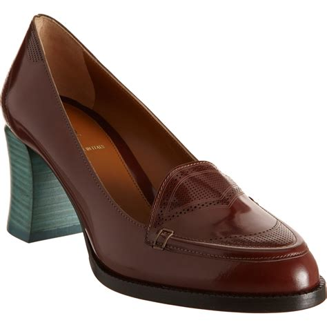 loafers pumps fendi loafer in brown lyst