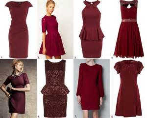 burgundy color dress frills and thrills the burgundy dress trend