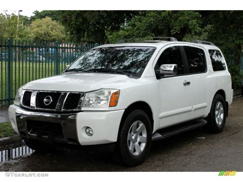 white nissan 2004 2004 blizzard white nissan armada le 4x4 72766354 photo