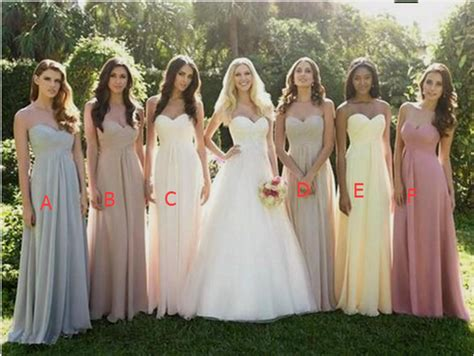 different color bridesmaid dresses empire waist bridesmaid dresses simple summer floral